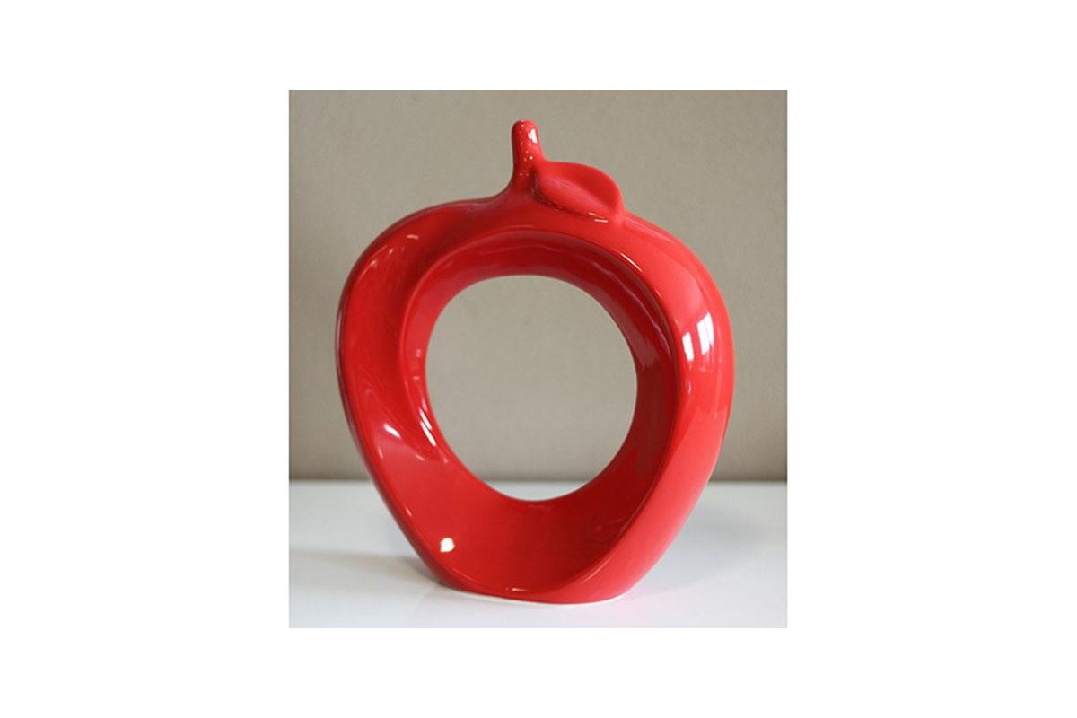 Autronic - Keramické dekorační jablko, červená barva. - HL747145