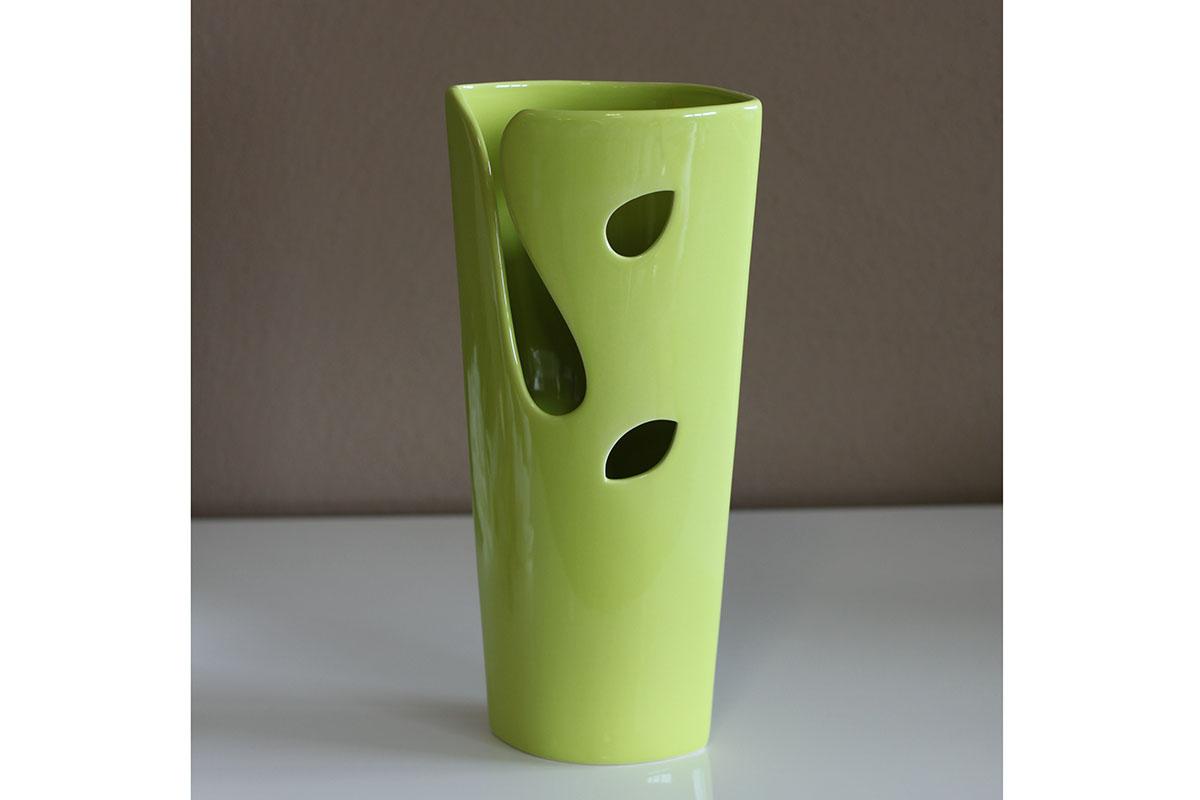 Autronic - Keramická váza - zelená - HL751463