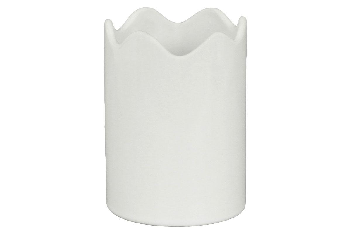 Autronic - Váza keramická bílá - HL817572