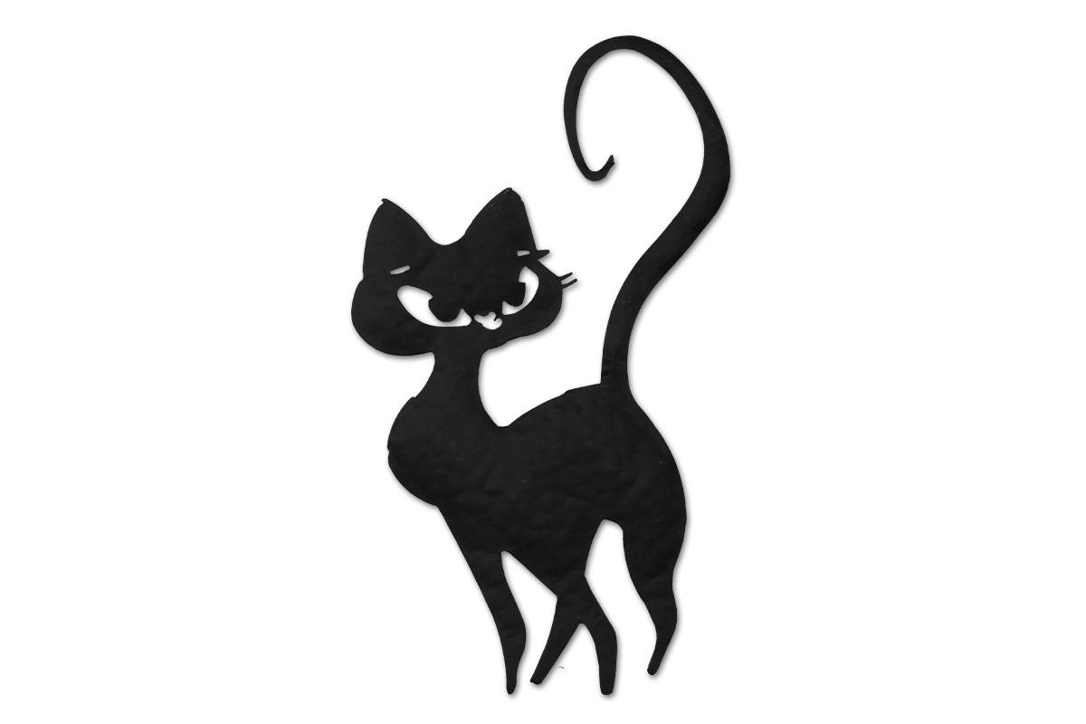 Autronic - Nástěnný kovový obraz - kočka - HO768249