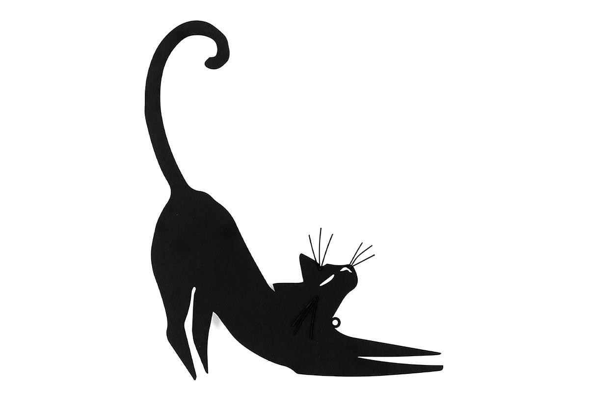 Autronic - Nástěnný kovový obraz - kočka - HO768256