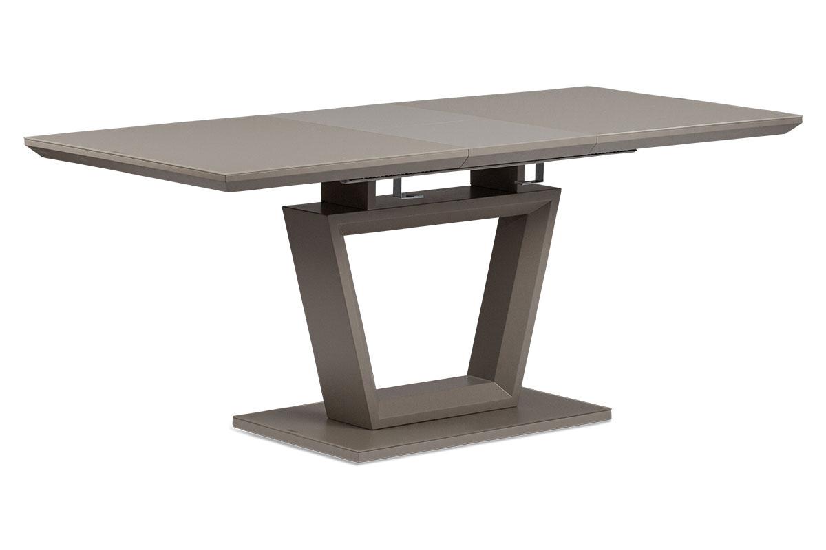 Rozkládací jídelní stůl 140+40x80x76 cm, MDF deska, barva matná lanýžová, lanýžo - HT-466 LAN