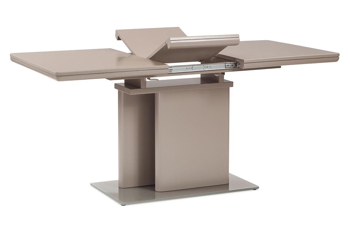 Autronic - Jídelní stůl rozkládací 120+40x80 cm, vysoký lesk barva lanýž - HT-655 LAN