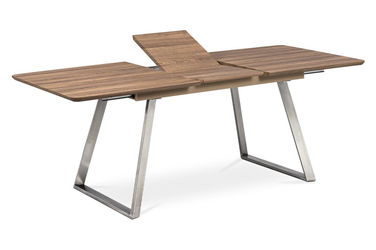Autronic - Jídelní stůl 160x90cm s rozkladem 40cm, MDF v dekoru tmavý dub - HT-804 OAK3