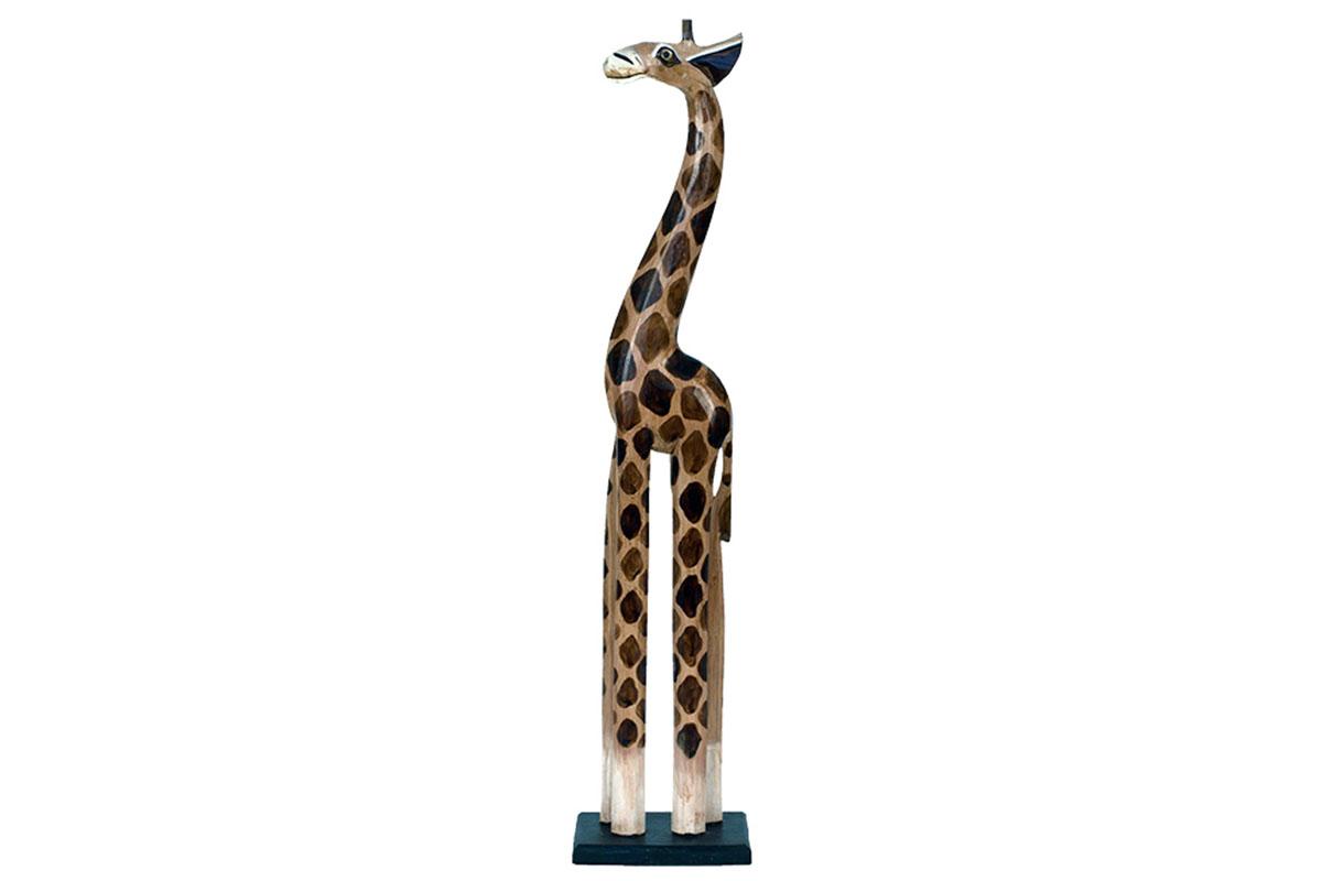 Autronic - Dřevořezba - Žirafa 80cm - IND-OBR010-80