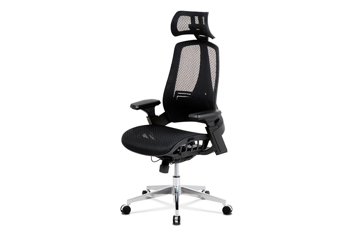 Autronic - Kancelářská židle, černá MESH síťovina, lankový mech., kovový kříž - KA-A189 BK
