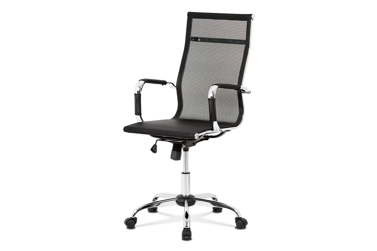 Autronic - Kancelářská židle, černá MESH síťovina, houpací mech, kříž chrom - KA-V303 BK