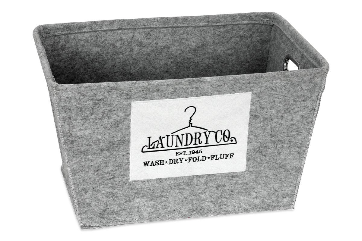 Autronic - Košík regálový z plsti, barva světle šedá - KD4419