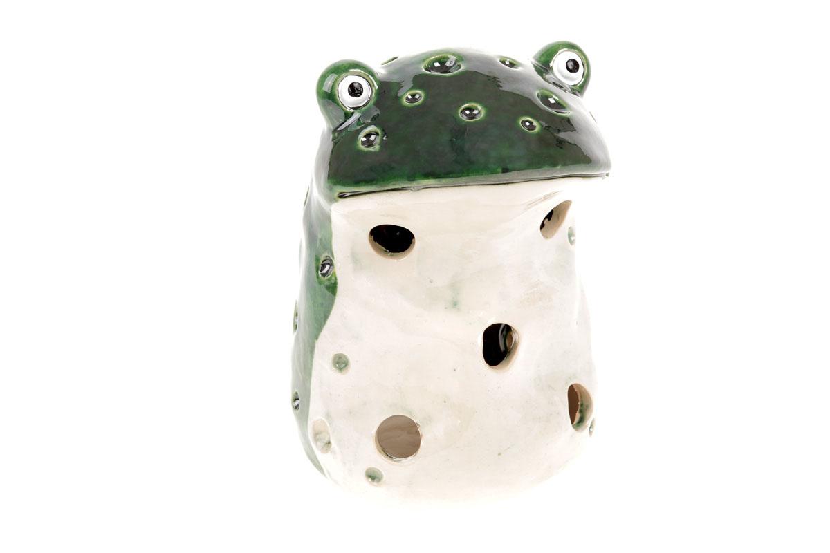 Autronic - Žába, keramická dekorace na čajovou svíčku. - KEK8155