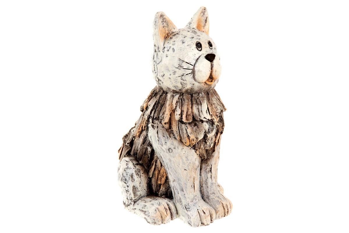 Autronic - Kočka z magneziové keramiky, zahradní dekorace. - KEM8017
