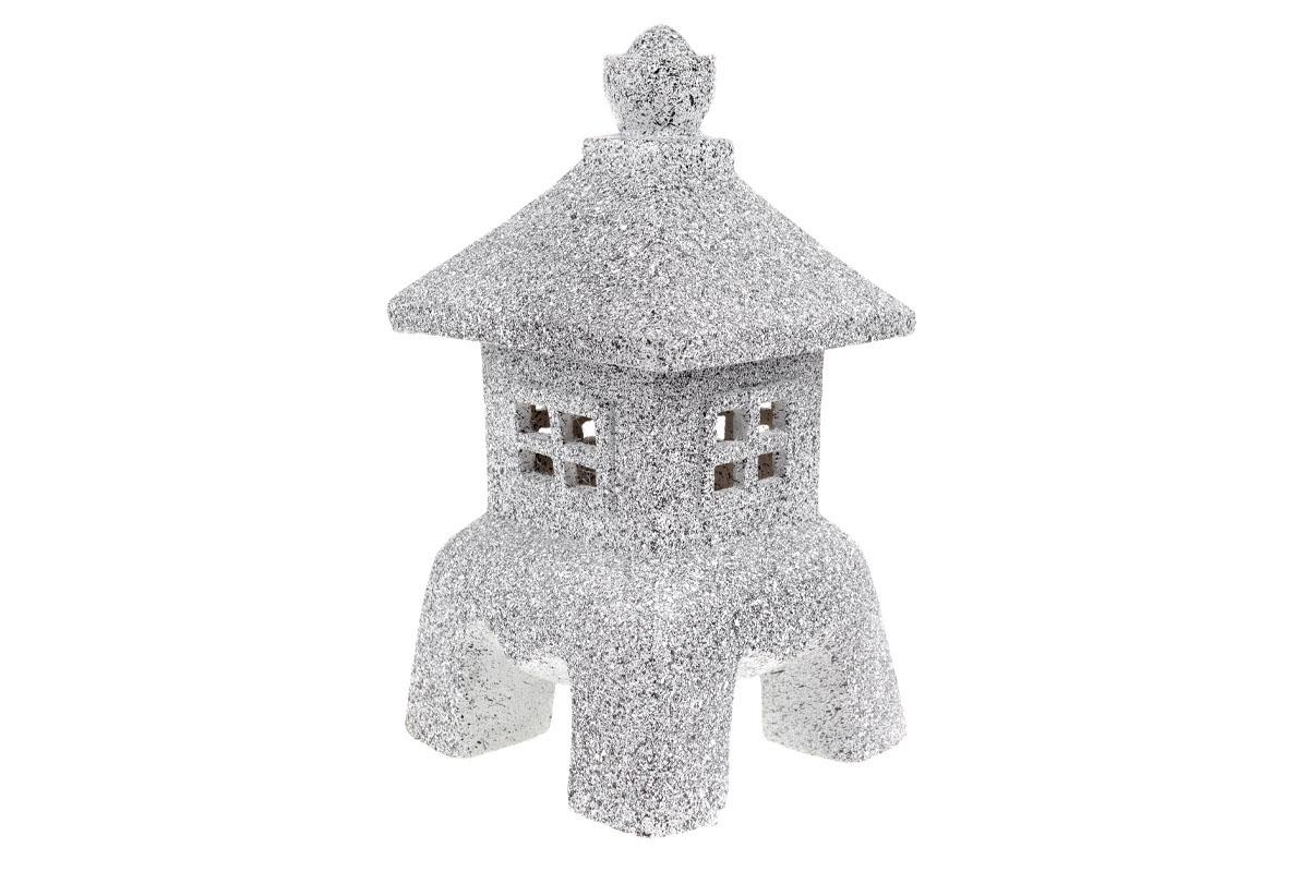 Autronic - Pagoda se solárním LED světlem (baterie na solární dobíjení), zahradní magneziová keramika. - KER324