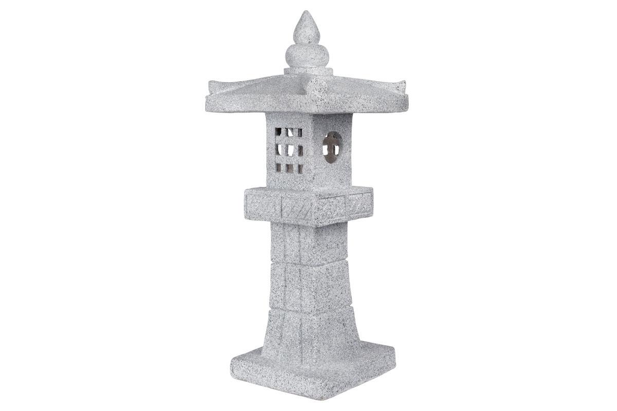 Autronic - Pagoda se solárním LED světlem (baterie na solární dobíjení), zahradní magneziová keramika. - KER326