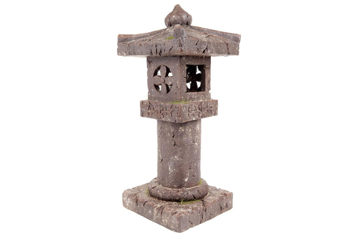 Autronic - Pagoda se solárním LED světlem (baterie na solární dobíjení), zahradní magneziová keramika. - KER328