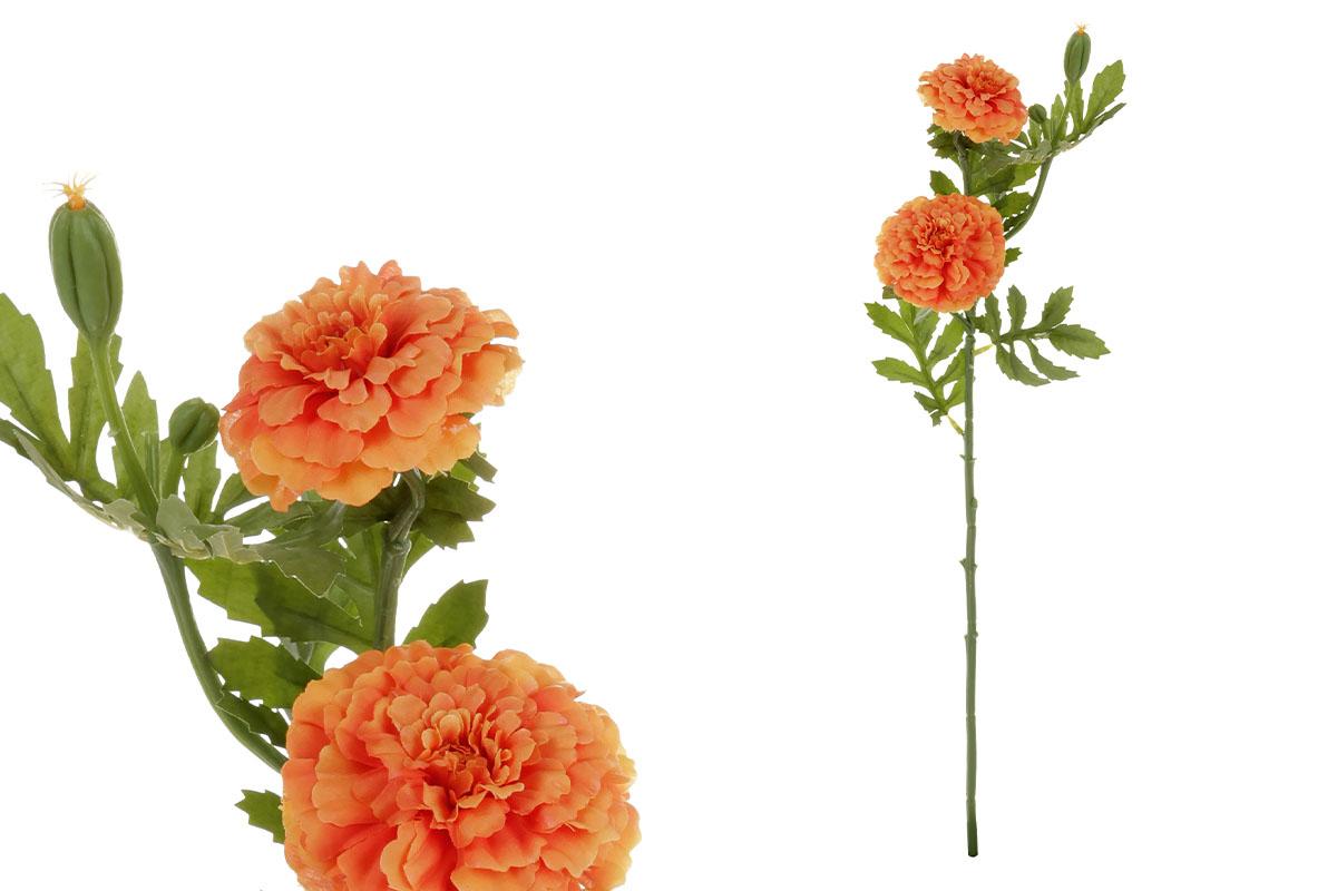 Afrikány, barva oranžová. Květina umělá.
