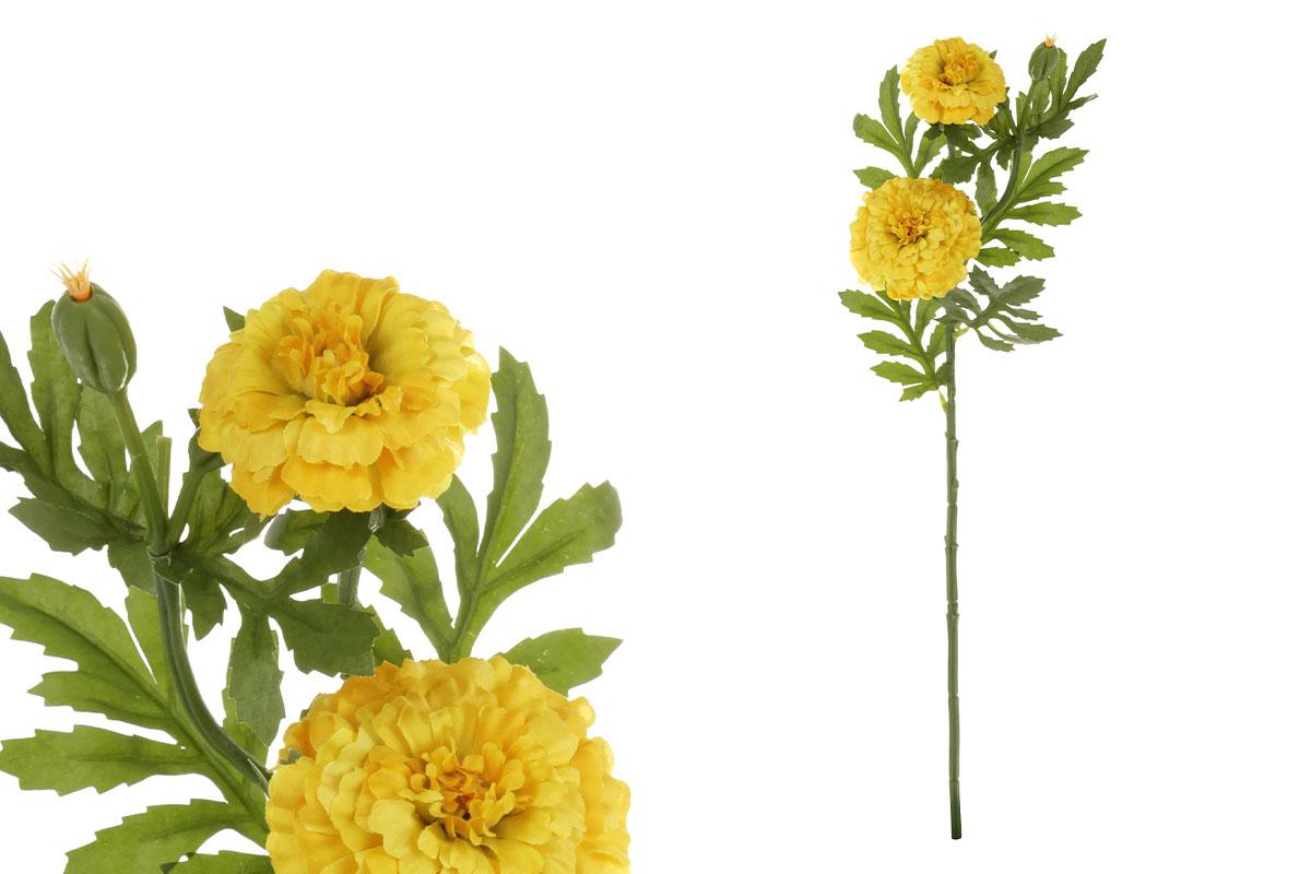 Afrikány, barva žlutá. Květina umělá.