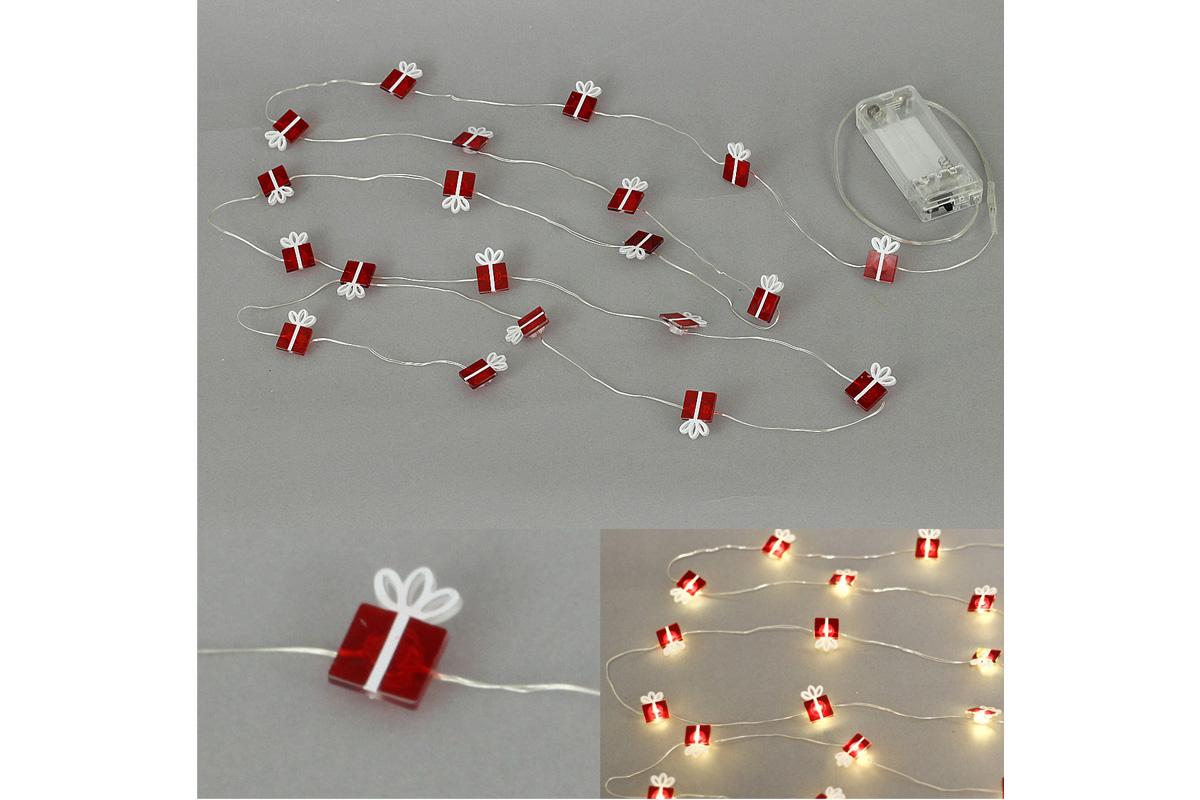 Autronic - Řetěz s LED světýlky na baterie barva teplá bílá - LED877071