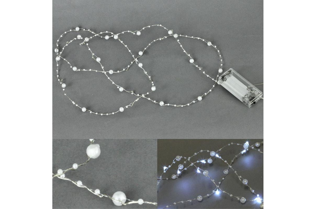 Autronic - Řetěz s LED světýlky na baterie barva studená bílá - LED877187
