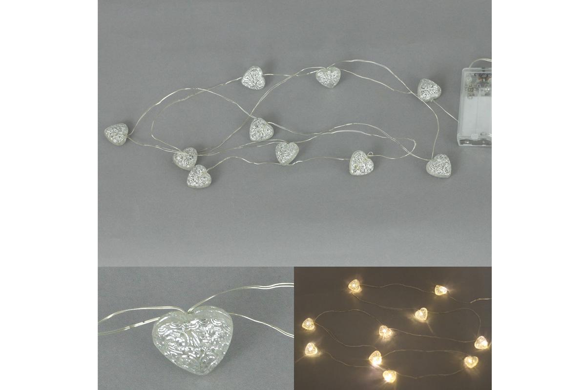 Autronic - Řetěz s LED světýlky na baterie, barva teplá bílá - LED877224