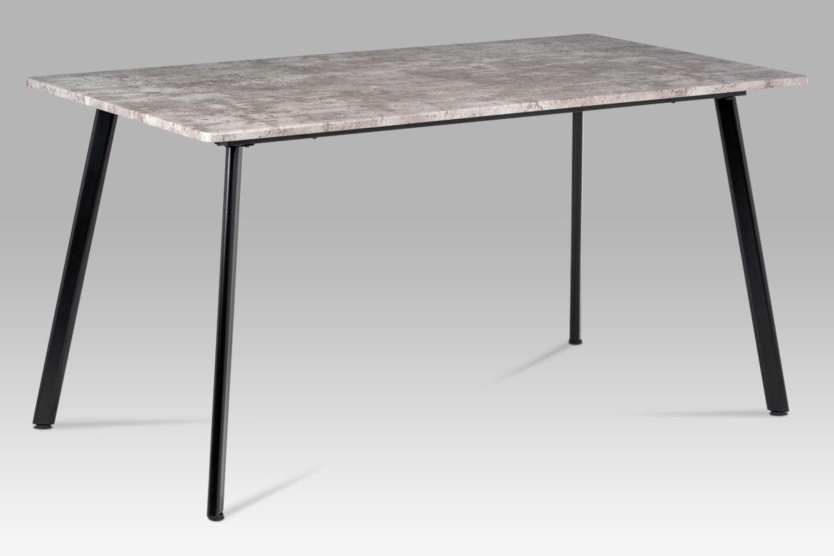 Autronic - Jídelní stůl 150x80x76, MDF beton, kov matná černá - MDT-2100 BET