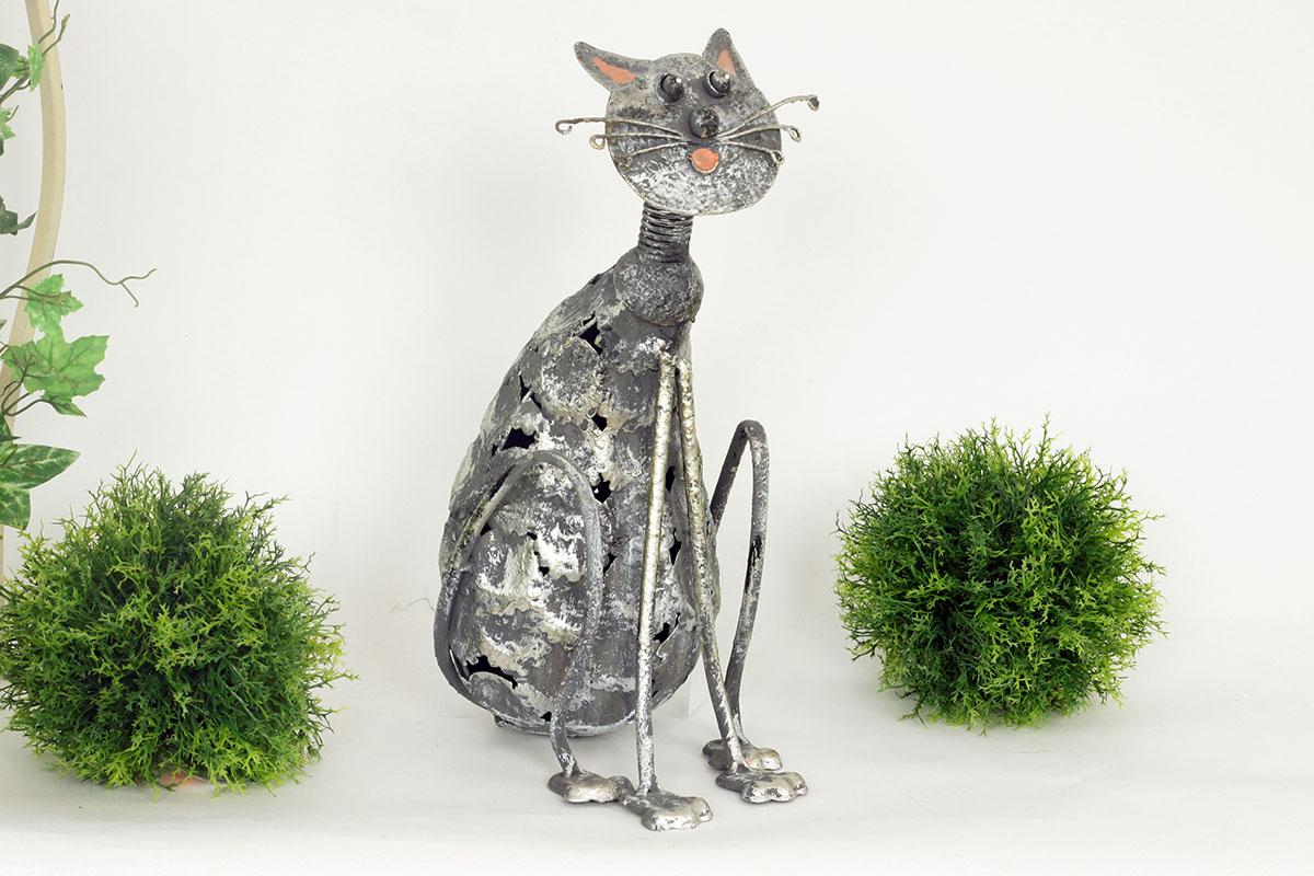 Autronic - Dekorační kovová kočka - MX160835