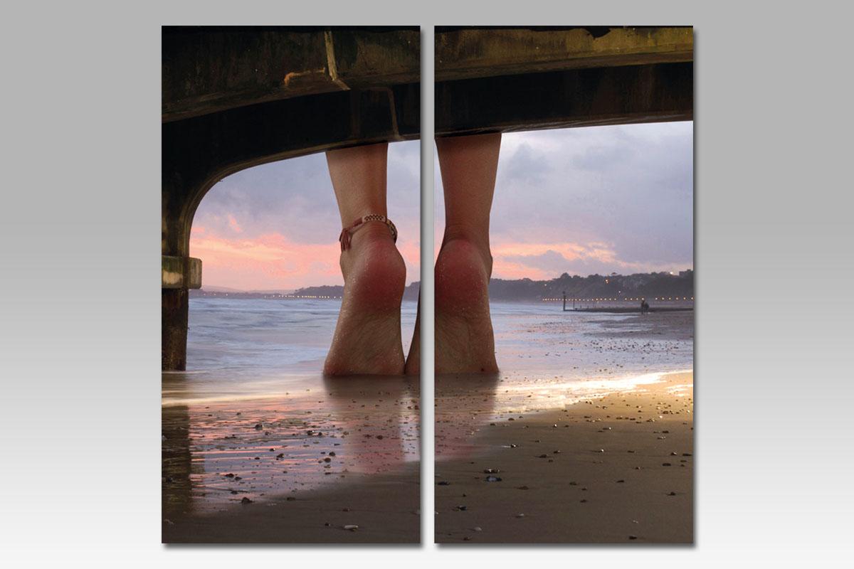 Autronic - Obraz MDF, motiv: nohy na pláži - OBK003