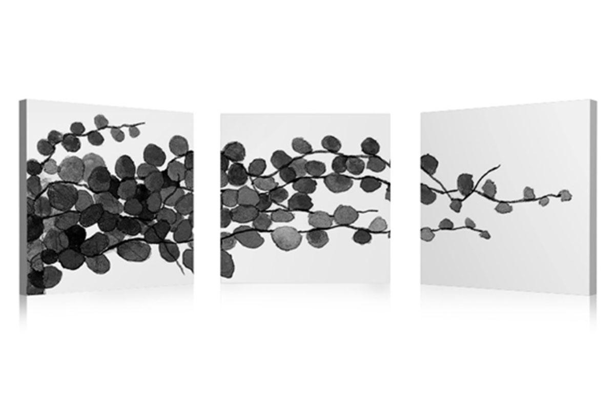 Autronic - Obraz sada 3ks, motiv: detail lístky - OBK019