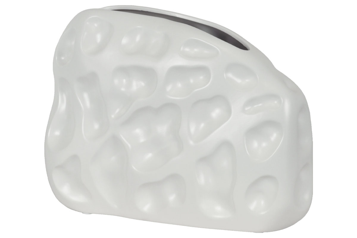 Autronic - Váza keramická - bílá matná - OBK665074