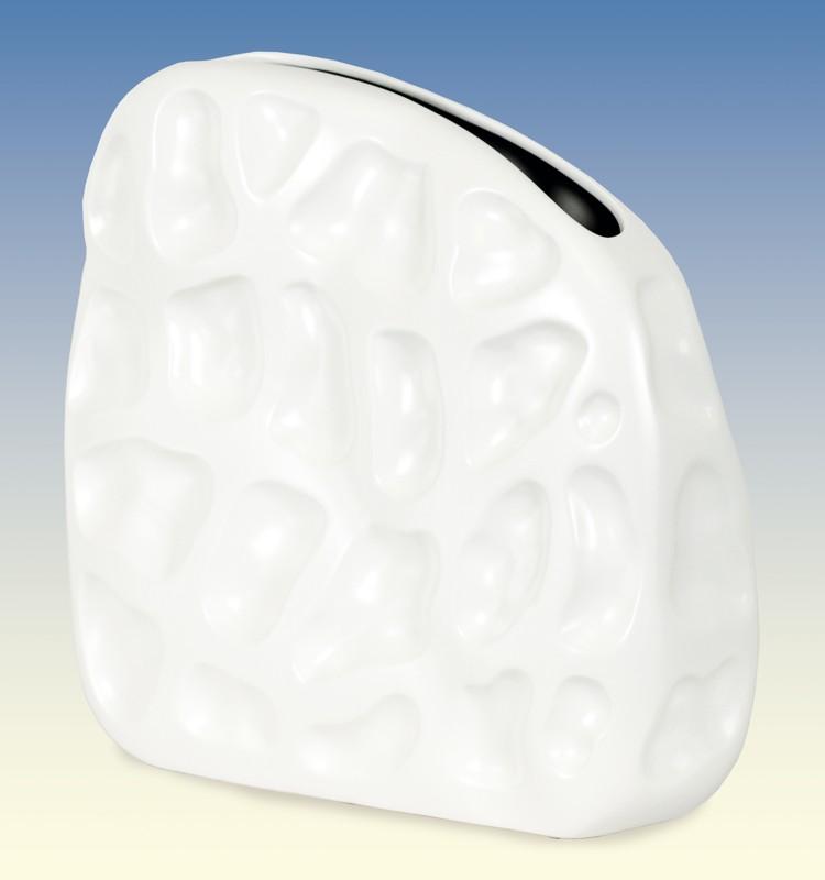 Autronic - Váza keramická - bílá matná - OBK665081
