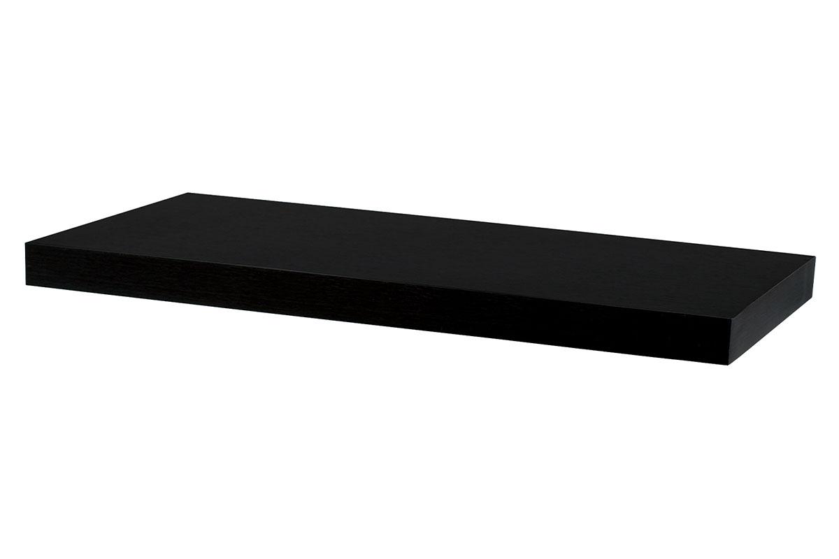 Autronic - Nástěnná polička 60 cm, barva ořech. Baleno v ochranné fólii. - P-001 BK (WAL)