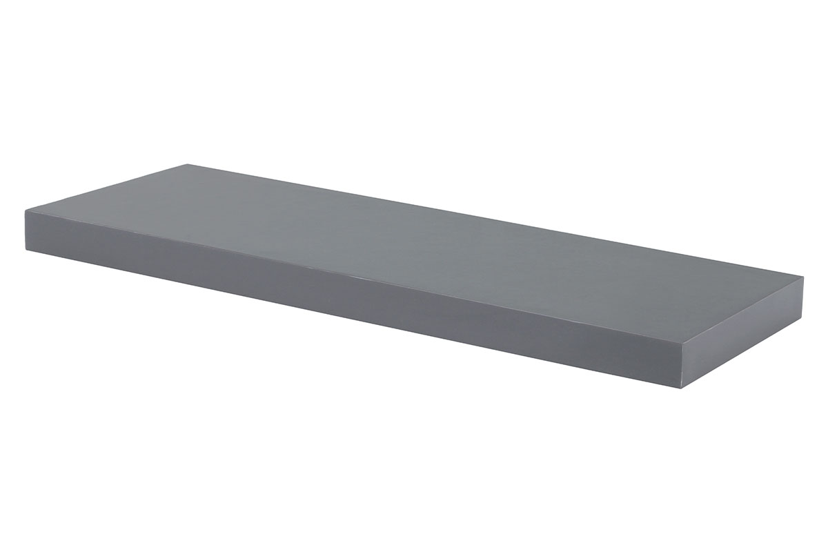 Autronic - Nástěnná polička 60 cm, barva šedivá, vysoký lesk. Baleno v ochranné fólii. - P-001 GREY