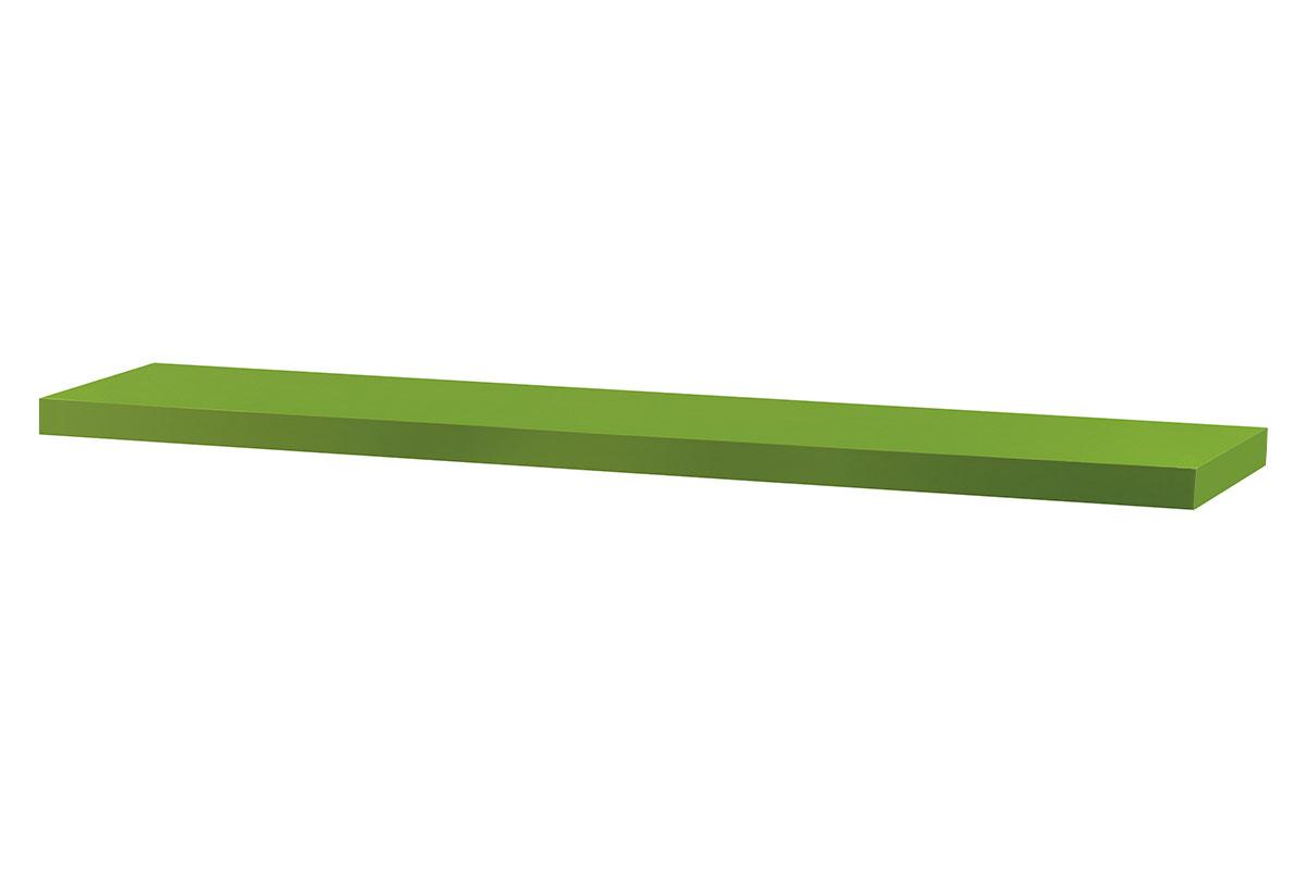 Autronic - Nástěnná polička 120cm, barva zelená. Baleno v ochranné fólii. - P-002 GRN