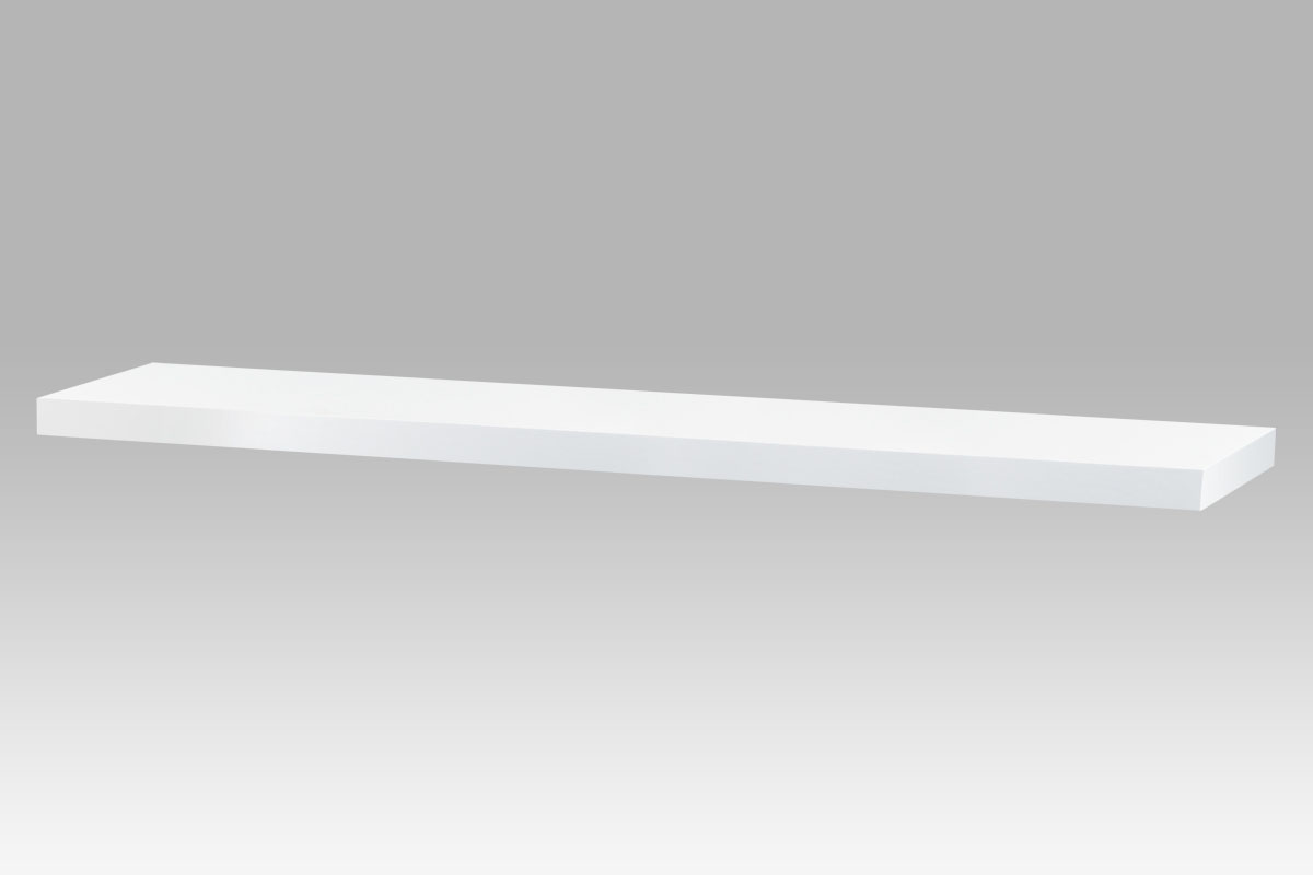 Autronic - Nástěnná polička 120cm, barva bílá. Baleno v ochranné fólii. - P-002 WT2