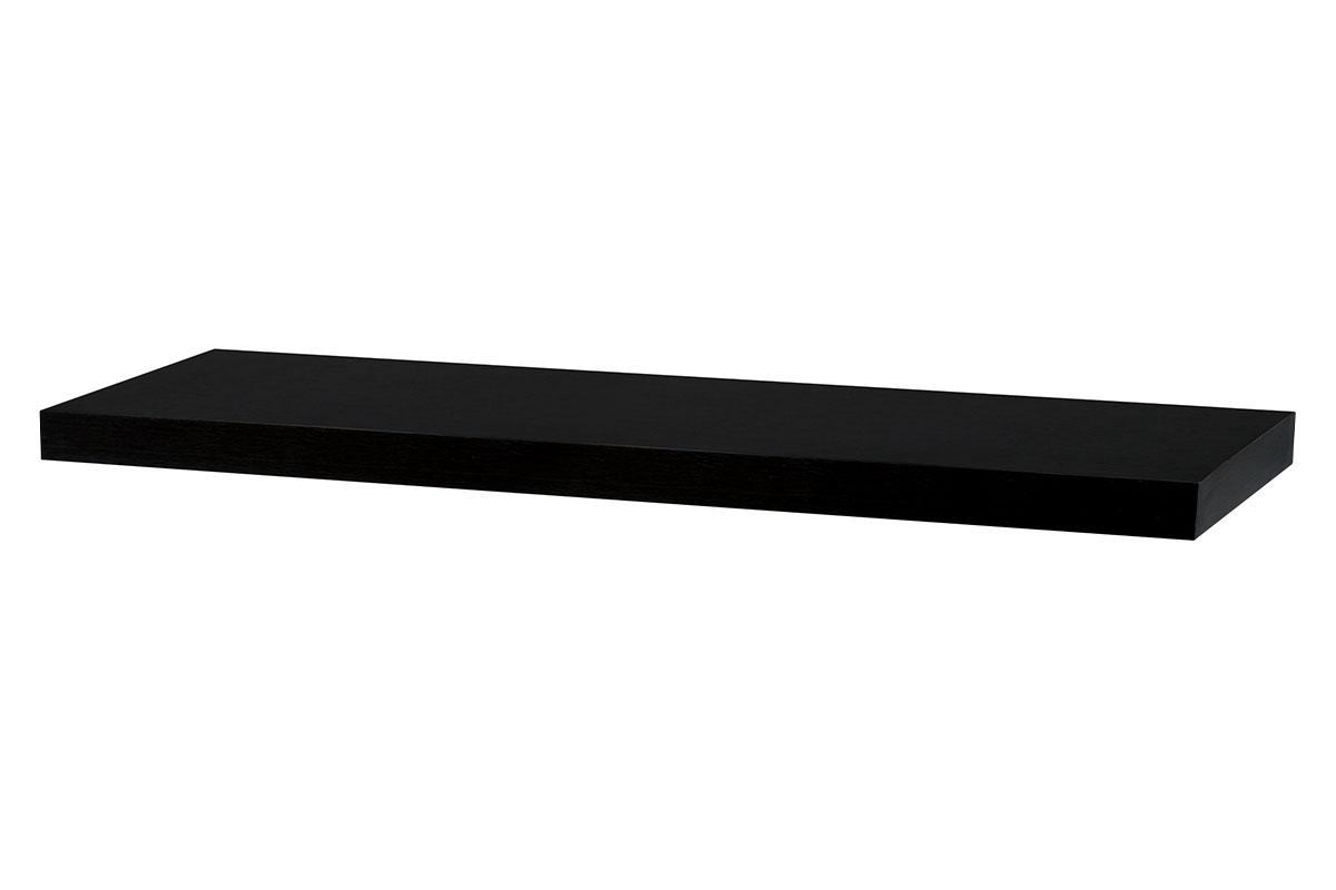 Autronic - Nástěnná polička 80cm, barva ořech. Baleno v ochranné fólii. - P-005 BK (WAL)