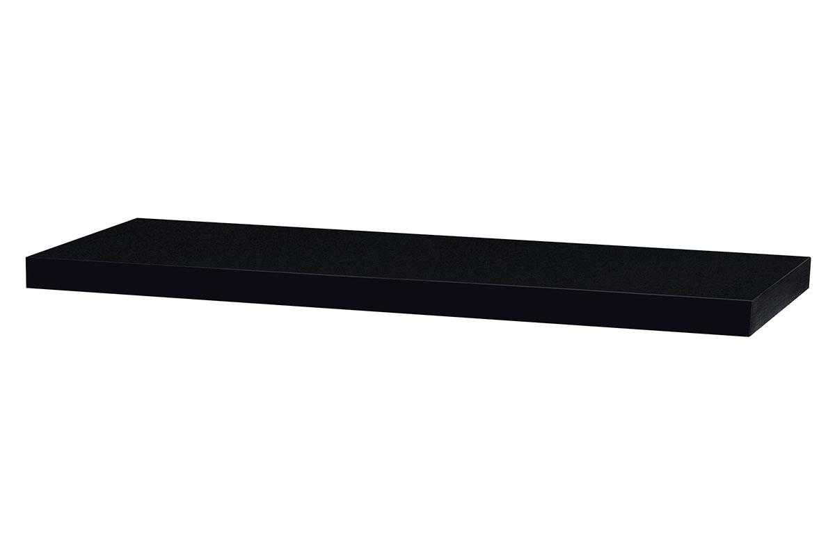 Autronic - Nástěnná polička 80cm, barva černá - vysoký lesk. Baleno v ochranné fólii. - P-005 BK