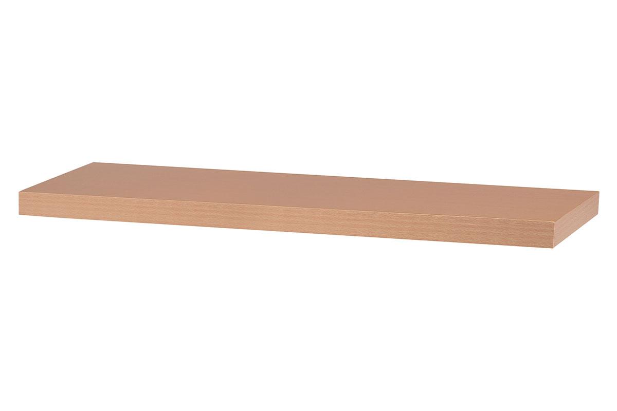 Autronic - Nástěnná polička 80cm, barva buk. Baleno v ochranné fólii. - P-005 BUK
