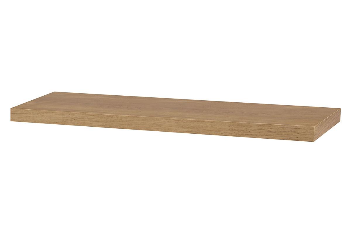 Autronic - Nástěnná polička 80cm, barva dub. Baleno v ochranné fólii. - P-005 DUB