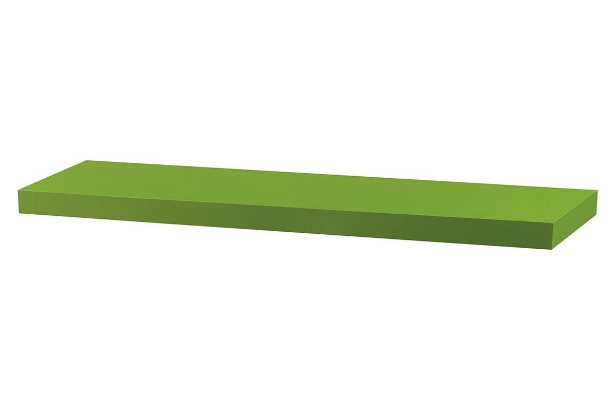 Autronic - Nástěnná polička 80cm, barva zelená. Baleno v ochranné fólii. - P-005 GRN