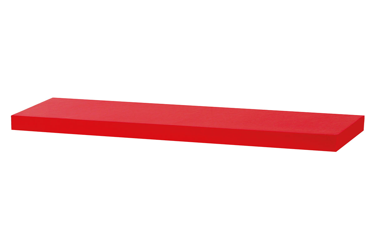 Autronic - Nástěnná polička 80cm, barva červená - vysoký lesk. Baleno v ochranné fólii. - P-005 RED