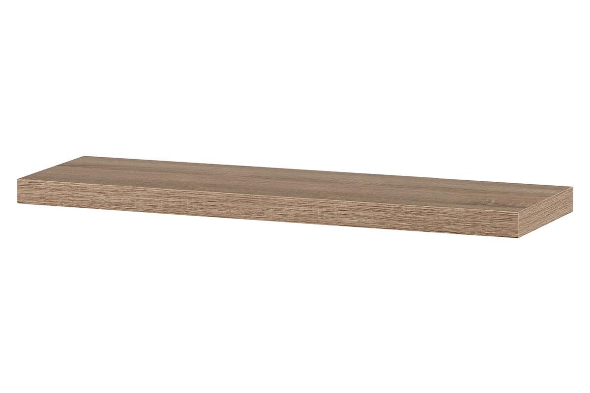 Autronic - Nástěnná polička 80cm, barva sonoma dub. Baleno v ochranné fólii. - P-005 SON1