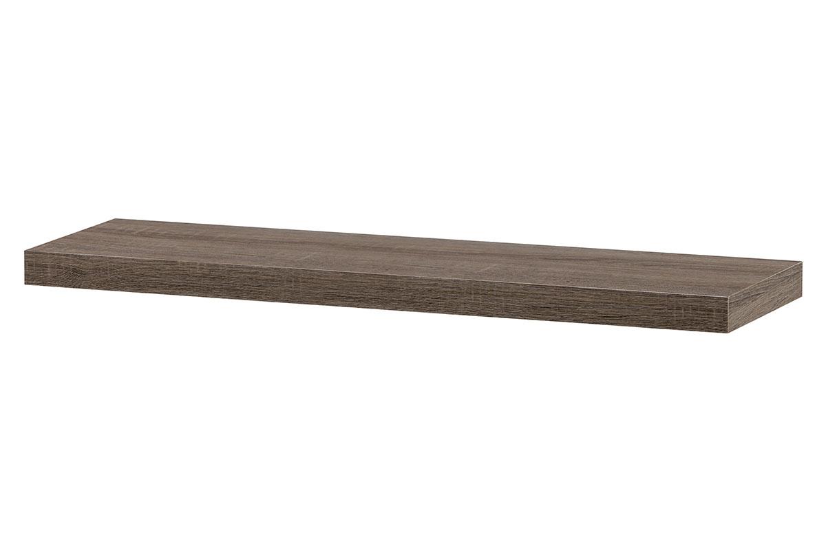 Autronic - Nástěnná polička 80 cm, barva tmavý sonoma dub. Baleno v ochranné fólii. - P-005 SON2