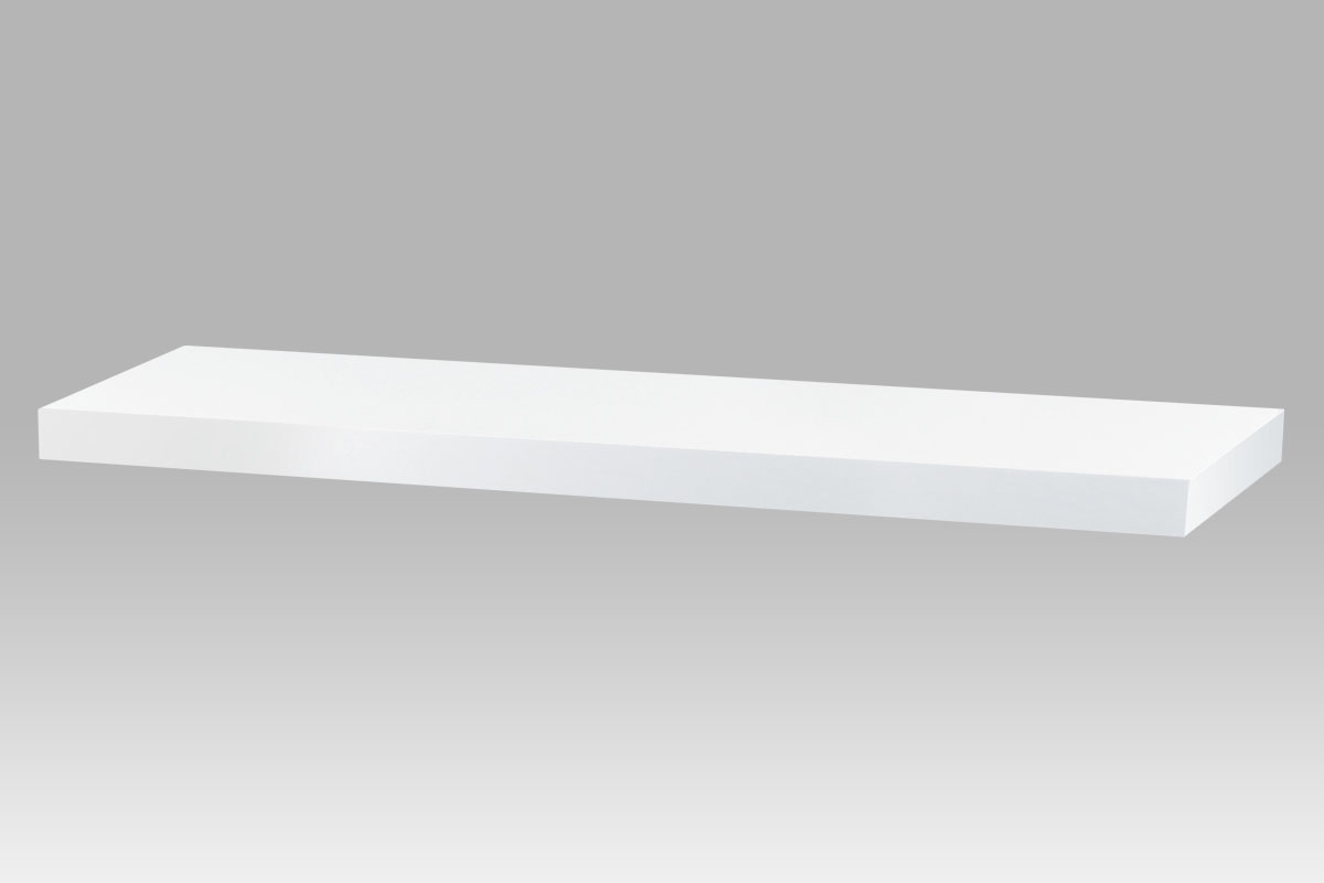 Autronic - Nástěnná polička 80cm, barva bílá. Baleno v ochranné fólii. - P-005 WT2