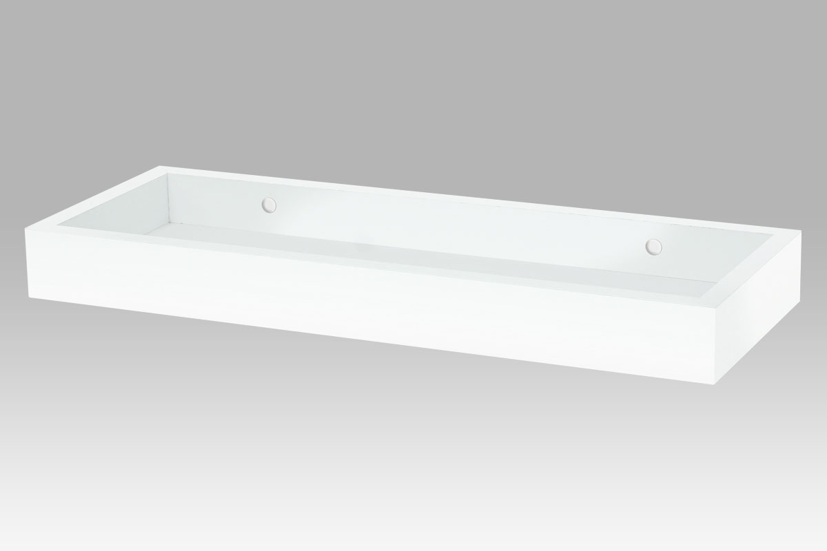 Autronic - Nástěnná polička, barva bílá - P-010 WT