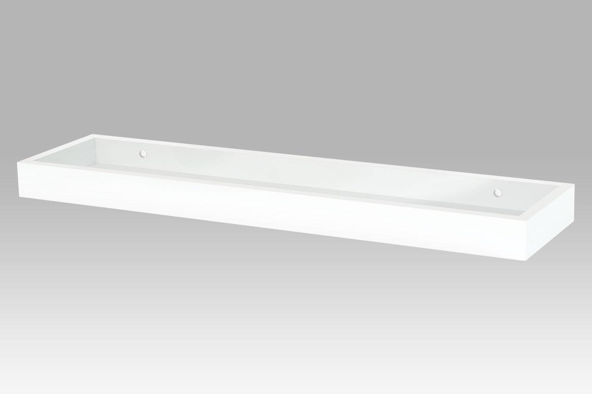 Autronic - Nástěnná polička, barva bílá matná - P-011 WT
