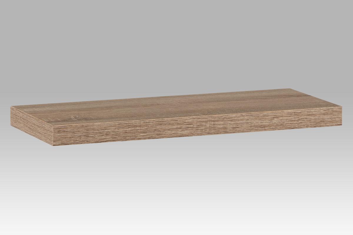 Autronic - Nástěnná polička 60cm, barva sonoma dub. Baleno v kartonu 1ks/ktn. - P-020 SON1