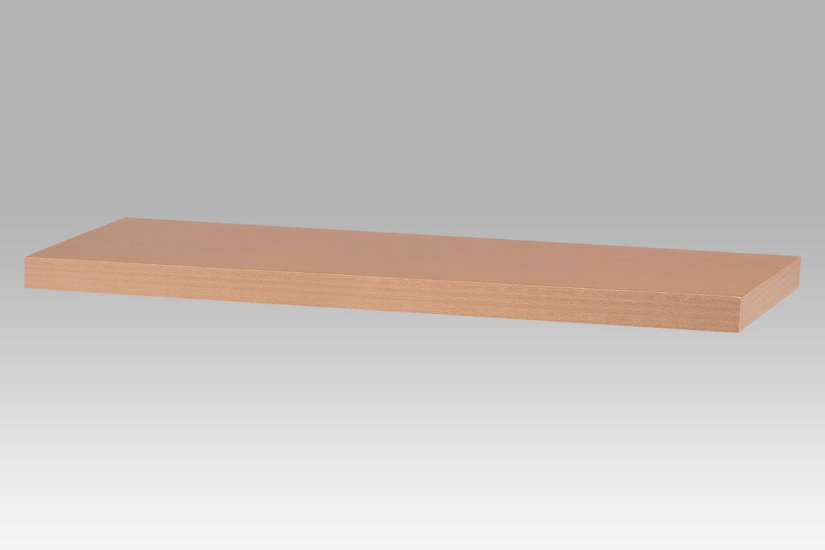 Autronic - Nástěnná polička 80cm, barva buk. Baleno v kartonu 1ks/ktn. - P-021 BUK