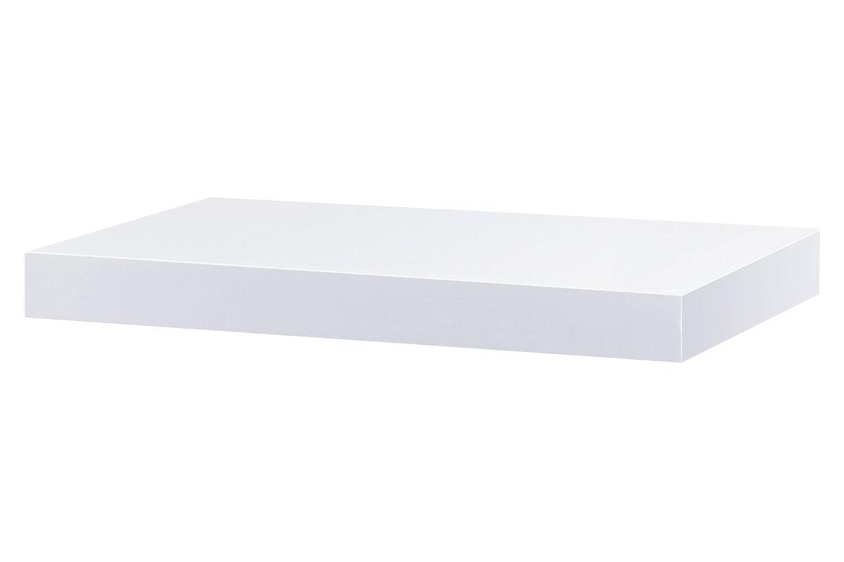 Autronic - Nástěnná polička 40cm, barva bílá- vysoký lesk.Baleno v ochranné fólii. - P-023 WT