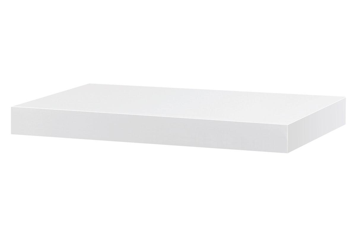 Autronic - Nástěnná polička 40cm, barva bílá.Baleno v ochranné fólii. - P-023 WT2