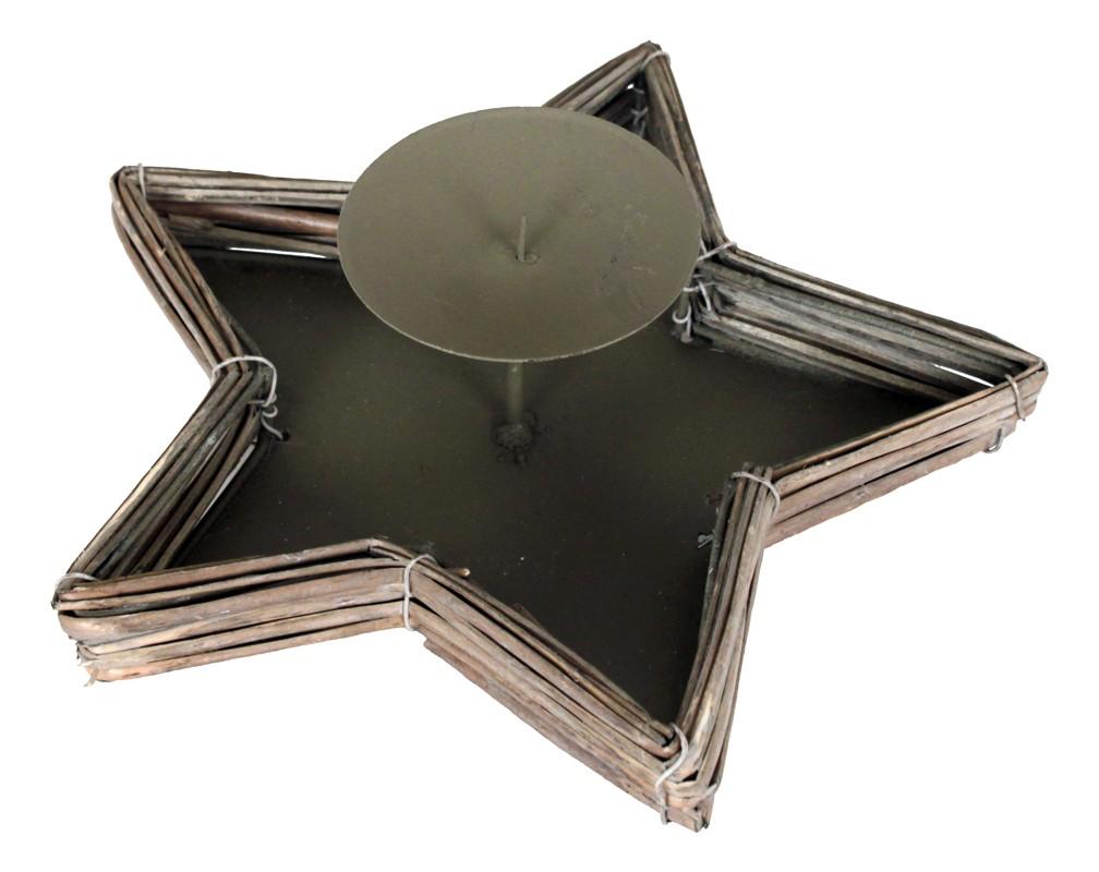 Autronic - Svícen proutěný šedivý - PR676360