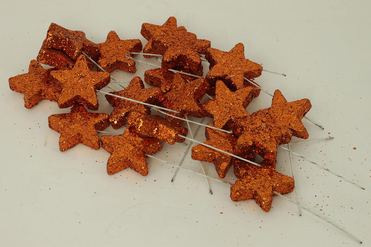 Autronic - Vánoční hvězdička měděná. Cena za 1 polybag (20ks) - PRZ728014