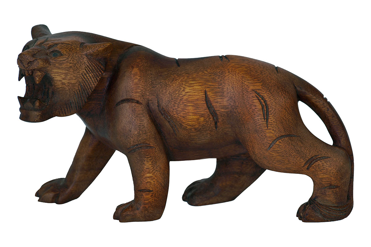 Autronic - Dřevořezba - Tigr 30cm (mahagonové dřevo) - PUR10-002